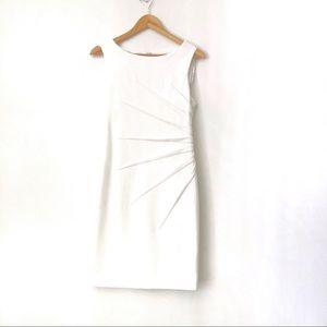 CALVIN KLEIN Off-White Sleeveless Midi Dress